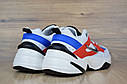 Кроссовки женские в стиле Nike M2 Tekno код товара OD-2583. Бело-синие с красным, фото 6