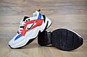 Кроссовки женские в стиле Nike M2 Tekno код товара OD-2583. Бело-синие с красным, фото 7