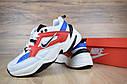 Кроссовки женские в стиле Nike M2 Tekno код товара OD-2583. Бело-синие с красным, фото 9