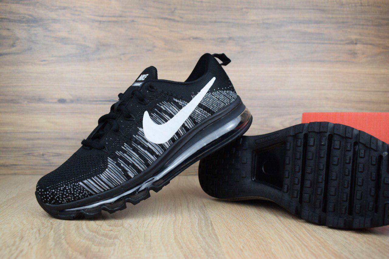 Кроссовки мужские в стиле Nike Air Max 2014 код товара OD-1420. Черные с белым