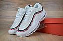 Кроссовки мужские в стиле Nike Air Max 97 Undefeated, натуральная кожа, текстиль код OD-1607. Белые, фото 2