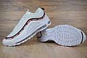 Кроссовки мужские в стиле Nike Air Max 97 Undefeated, натуральная кожа, текстиль код OD-1607. Белые, фото 6