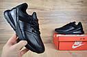 Кроссовки мужские в стиле Nike Air Max 270, натуральная кожа, текстиль код OD-1588. Черные, фото 7