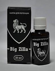Big Zilla - Капли для повешения потенции (Большая Зилла), Биостимулятор усиливает оргазм, укрепляет эрекцию