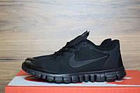 Кроссовки мужские Nike Free Run 3.0 в стиле Найк Фри Ран, тектсиль, текстиль код OD-1001. Черные