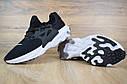 Кроссовки мужские Nike Presto React в стиле Найк Престо Реакт, тектсиль, текстиль код OD-1655. Черные, фото 3