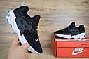 Кроссовки мужские Nike Presto React в стиле Найк Престо Реакт, тектсиль, текстиль код OD-1655. Черные, фото 4