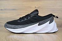 Кроссовки  Adidas Shark мужские, черно-белые, в стиле Адидас Шарк, материал-текстиль, подошва-пена, код OD-1691.