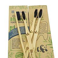 Бамбуковая зубная щетка упаковка/ 4шт.