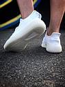 Кроссовки Adidas Yeezy Boost 350 мужские, в стиле Адидас Изи Буст. Текстиль, код Z-1809. Белые, фото 2
