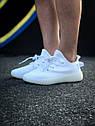 Кроссовки Adidas Yeezy Boost 350 мужские, в стиле Адидас Изи Буст. Текстиль, код Z-1809. Белые, фото 3