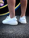Кроссовки Adidas Yeezy Boost 350 мужские, в стиле Адидас Изи Буст. Текстиль, код Z-1809. Белые, фото 5