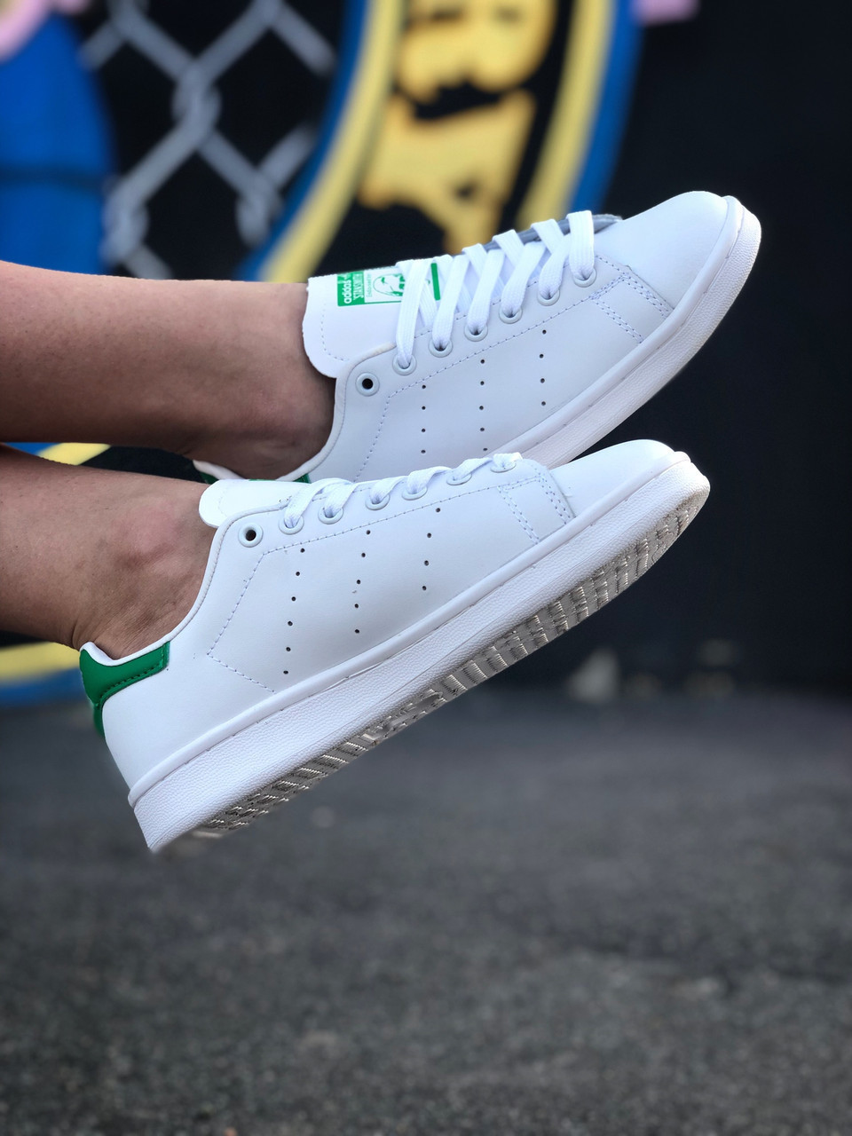 Кроссовки Adidas Stan Smith женские, в стиле Адидас Стен Смит. Натуральная кожа. код Z-1557. Белые
