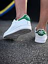 Кроссовки Adidas Stan Smith женские, в стиле Адидас Стен Смит. Натуральная кожа. код Z-1557. Белые, фото 3
