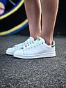 Кроссовки Adidas Stan Smith женские, в стиле Адидас Стен Смит. Натуральная кожа. код Z-1557. Белые, фото 4