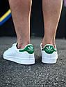 Кроссовки Adidas Stan Smith женские, в стиле Адидас Стен Смит. Натуральная кожа. код Z-1557. Белые, фото 7