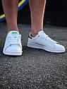 Кроссовки Adidas Stan Smith женские, в стиле Адидас Стен Смит. Натуральная кожа. код Z-1557. Белые, фото 8