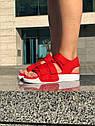Босоножки Adidas женские, в стиле Адидас. Код товара Z-1876. Красные, фото 3
