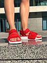 Босоножки Adidas женские, в стиле Адидас. Код товара Z-1876. Красные, фото 4