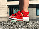 Босоножки Adidas женские, в стиле Адидас. Код товара Z-1876. Красные, фото 6