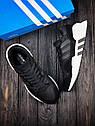 Кроссовки мужские Adidas Equipment в стиле Адидас Эквипмент, замша, текстиль код Z-1707. Черные с белым, фото 3