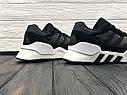 Кроссовки мужские Adidas Equipment в стиле Адидас Эквипмент, замша, текстиль код Z-1707. Черные с белым, фото 4