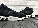 Кроссовки мужские Adidas Equipment в стиле Адидас Эквипмент, замша, текстиль код Z-1707. Черные с белым, фото 5