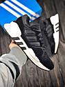Кроссовки мужские Adidas Equipment в стиле Адидас Эквипмент, замша, текстиль код Z-1707. Черные с белым, фото 8