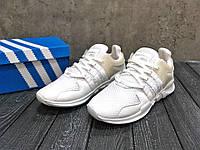Кроссовки мужские в стиле Adidas EQV код товара Z-1443. Белые
