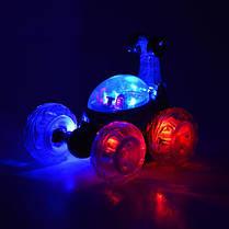 Перевёртыш трюковая машинка на радио пульте управлении с световыми эффектами красный, фото 3