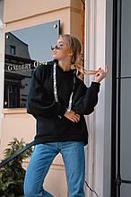 Женский универсальный классный осенне-зимний теплый с капюшоном свитшот (трёхнитка на флисе) 3 цвета