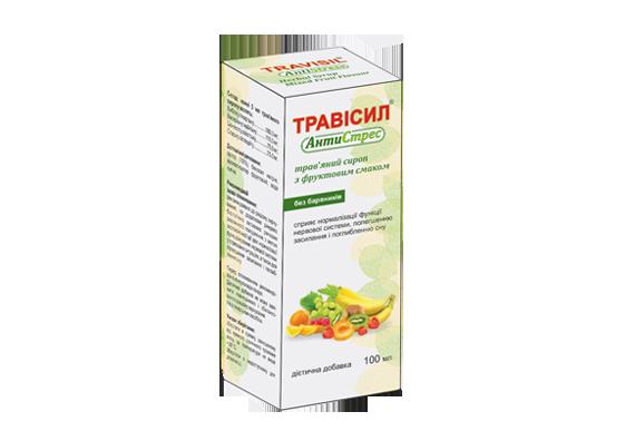Трависил Антистресс травяной сироп с фруктовым вкусом, 100 мл