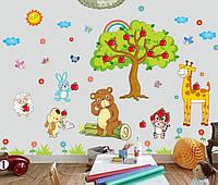 Интерьерная наклейка на стену Детская - Звери