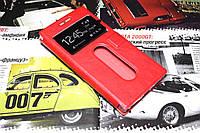 Кожаный чехол книжка для Lenovo P70 красный