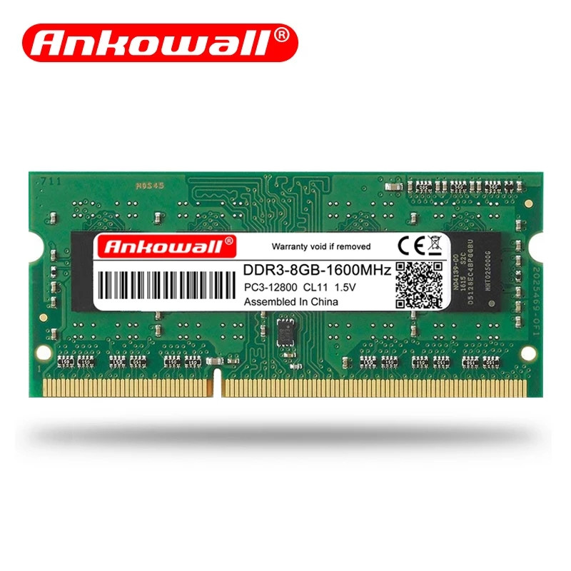DDR3 SO-DIMM 8GB 1600mhz 1.35 V Ankowall