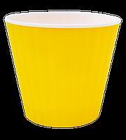 Цветочный горшок Алеана Ибис 15  Желтый-белый
