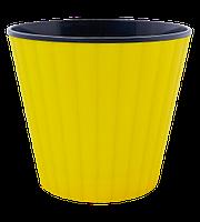 Цветочный горшок Алеана Ибис 15 Желтый-черный