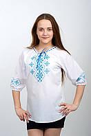 Современная женская вышиванка Хитрый крестик