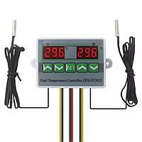 Двухканальный Цифровой регулятор температуры ZFX-ST3012 Электронный термостат с двумя цифровыми дисплеями