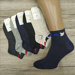 Носки мужские средние деми UYUT men cotton socks хлопок 41-47р.бесшовные с двойной пяткой ассорти НМД-0510364