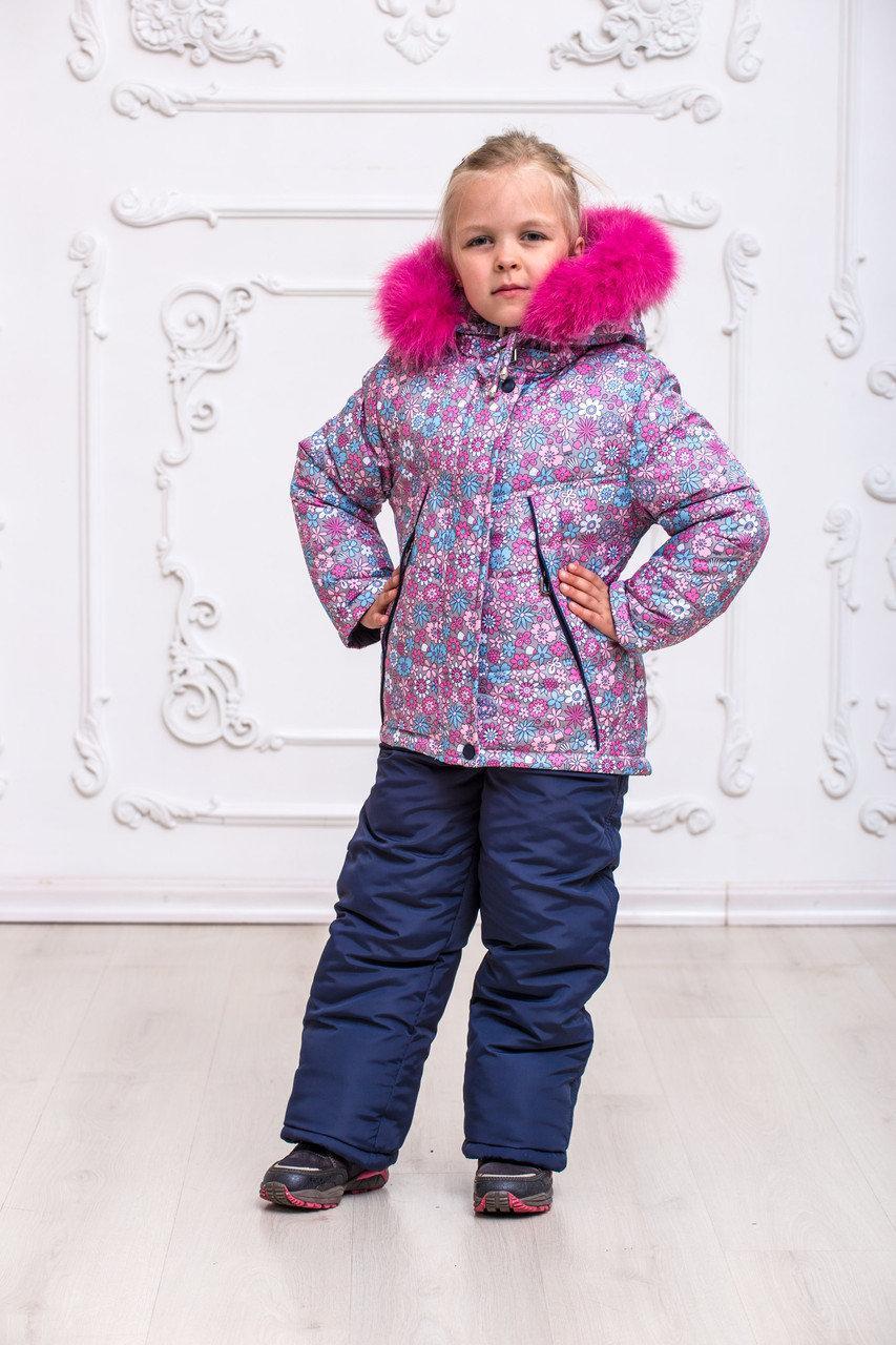 Зимовий комбінезон для дівчинки, р-ри на зростання 92-110