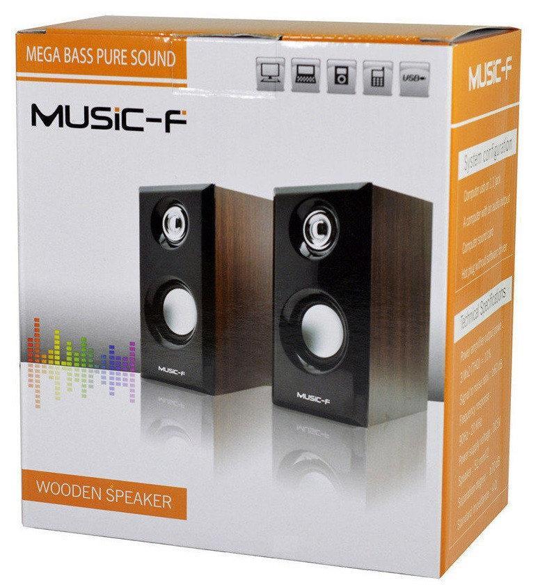 Компьютерные колонки Music-F D-092, светлое дерево