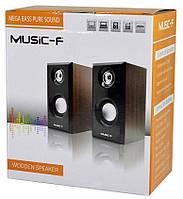 Компьютерные колонки Music-F D-092, светлое дерево, фото 1