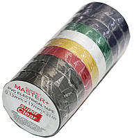 Изолента ПВХ цветная Master+(21m*17mm*0.13mm), изоляционная лента