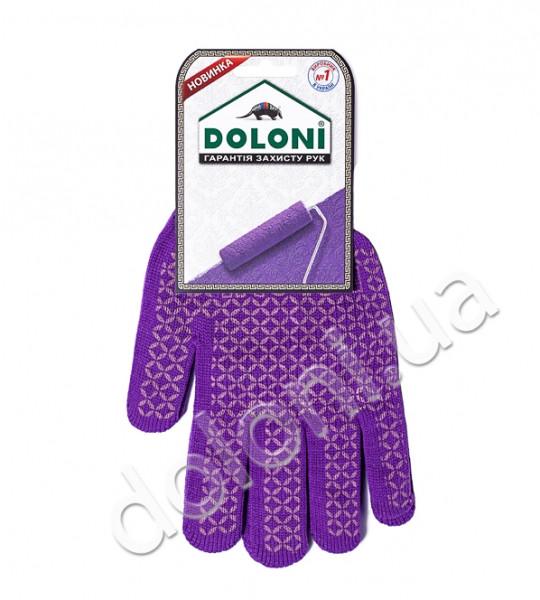 """Перчатки рабочие DOLONI  """"Декор"""" с ПВХ точкой"""