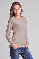 Модный женский блузон с украшениями-замочками