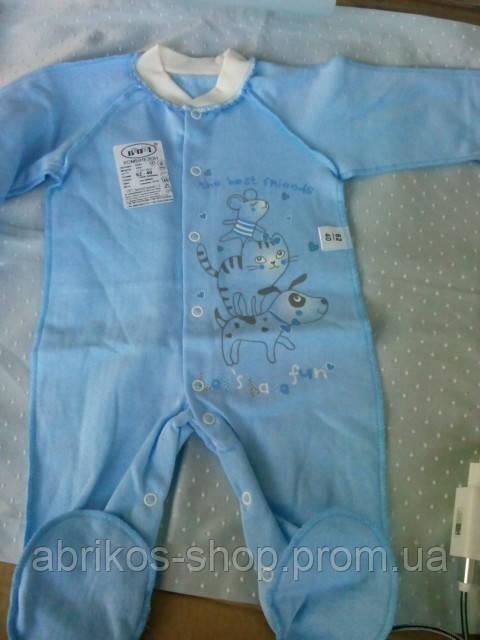 Комбинезон для новорожденного  футер ( Украина )