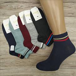 Носки мужские средние деми UYUT men cotton socks хлопок 41-47р.бесшовные с двойной пяткой ассорти НМД-0510356