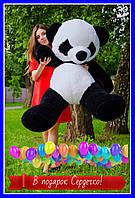 Плюшевый Мишка Панда, Мягкая игрушка Панда 140 см, Іграшка плюшевий Ведмідь
