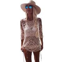 Вязаное платье с открытой спиной
